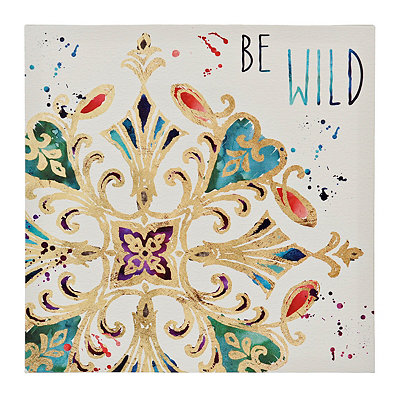 Wild Medallion Tile Canvas Art Print