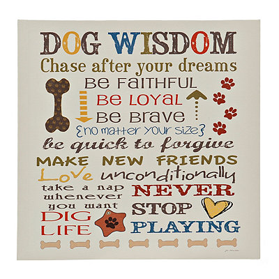 Dog Wisdom I Canvas Art Print