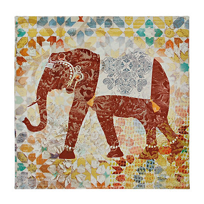 Tribal Elephant Canvas Art Print