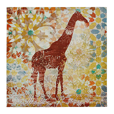 Tribal Giraffe Canvas Art Print
