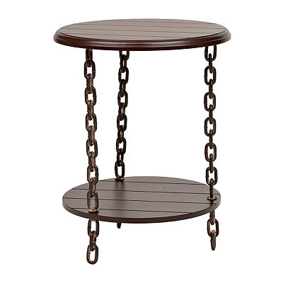 Cherry Chain-Link Side Table