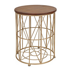 Industrial Gold Side Table