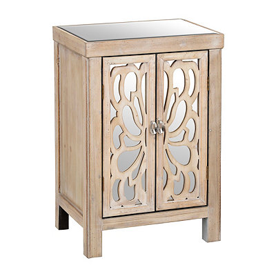 Natural Butterfly Mirrored Cabinet