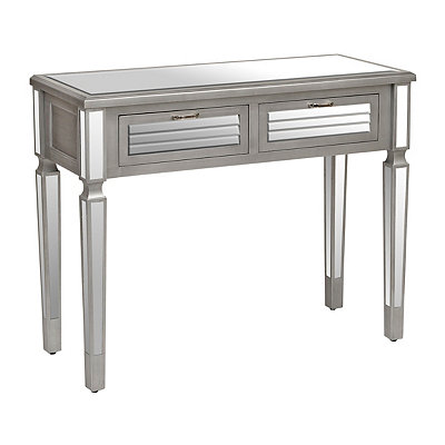 Antique Silver Mirrored 2-Drawer Console Table