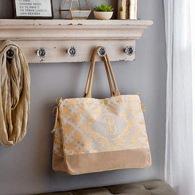 Hello Lovely Monogram Tote
