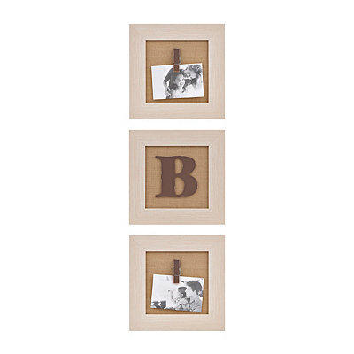 Cream Monogram B Clip Collage Frames, Set of 3