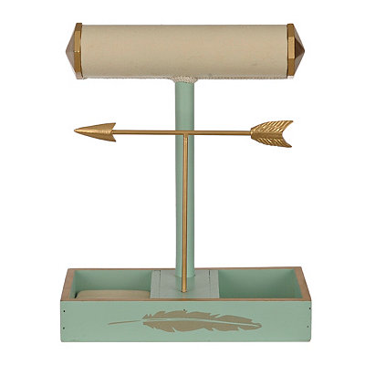 Teal Arrow Jewelry Organizer