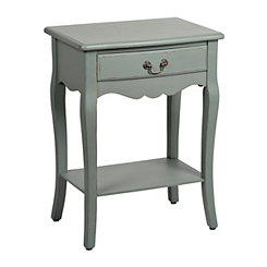 Blue Cabriole Side Table
