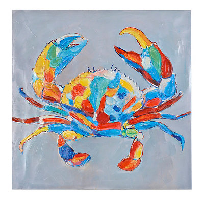 Colorful Crab Canvas Art Print