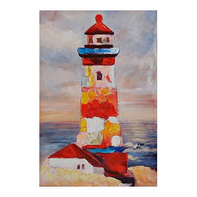 Colorful Lighthouse Canvas Art Print