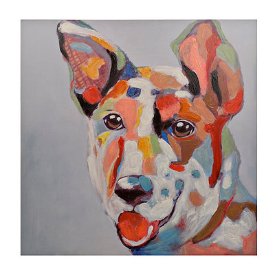 Colorful Dog Canvas Art Print