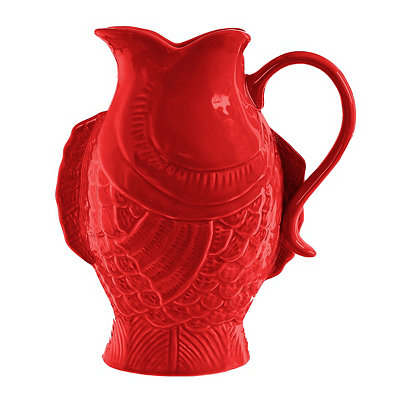 Red Fish Pitcher