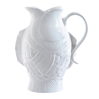 White Fish Pitcher