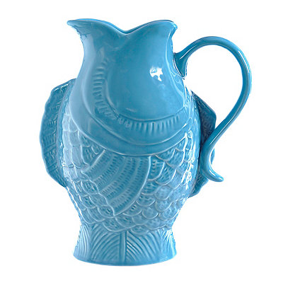 Turquoise Fish Pitcher