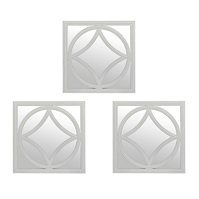 Marquise White Diamond Mirrors, Set of 3