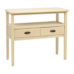 Ivory 2-Tier Console Table