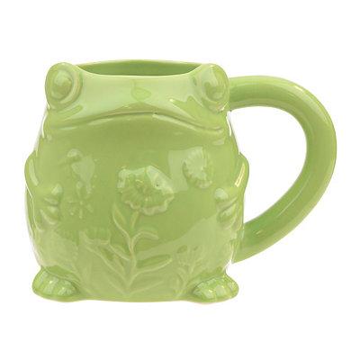 Embossed Green Frog Mug