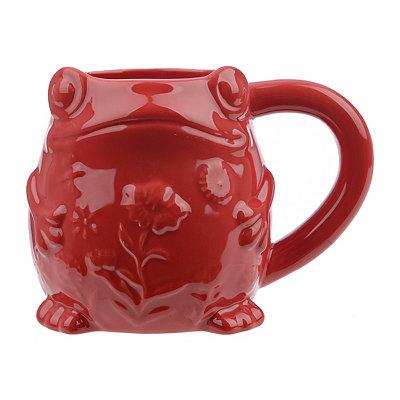 Embossed Red Frog Mug