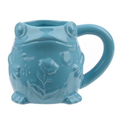 Embossed Turquoise Frog Mug
