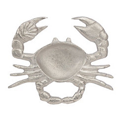Silver Crab Snack Dish