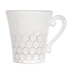 White Ceramic Honeycomb Mug