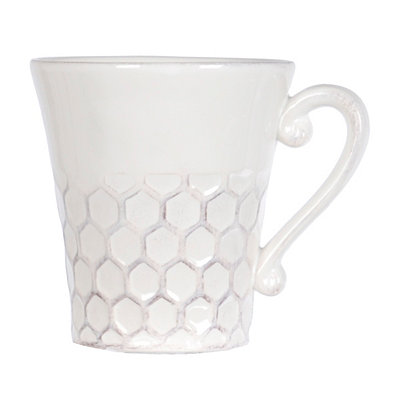 White Ceramic Honeycomb Mug