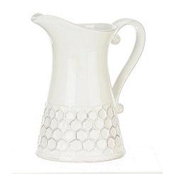 White Ceramic Honeycomb Pitcher
