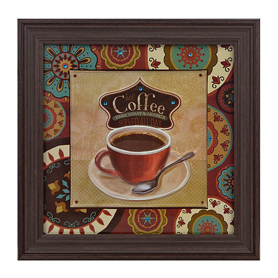 Jeweled Boho Chic Coffee Canvas Art Print
