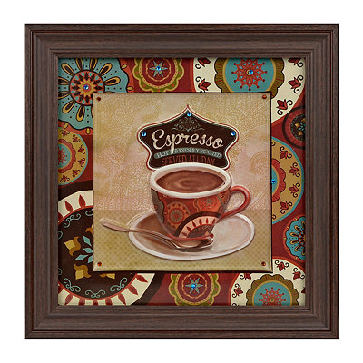 Jeweled Boho Chic Espresso Framed Art Print