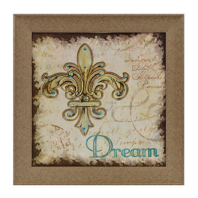 Dream Fleur-de-Lis Framed Art Print