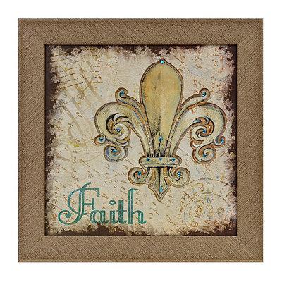 Faith Fleur-de-Lis Framed Art Print