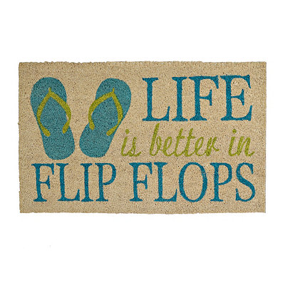 Life Is Better in Flip Flops Doormat