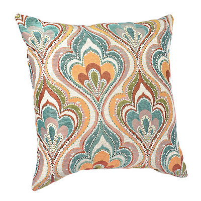Multicolor Stitched Lotus Pillow