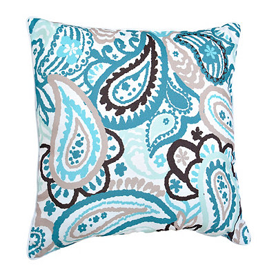 Blue and Brown Paisley Pillow