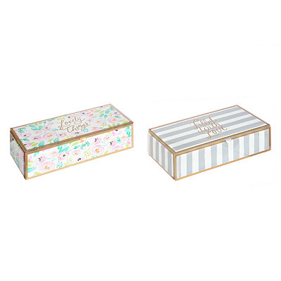 Hello Lovely Glass Jewelry Boxes