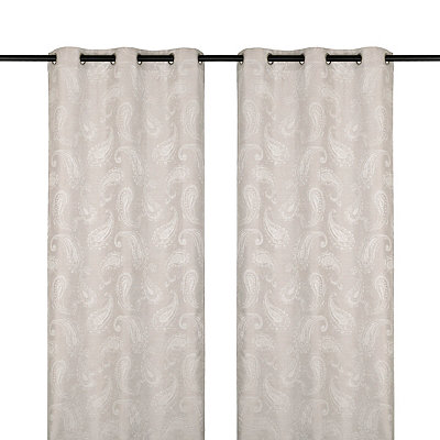 Dove Gray Bangalore Curtain Panel Set, 84 in.