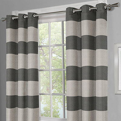 Surfside Black Pearl Curtain Panel Set, 96 in.