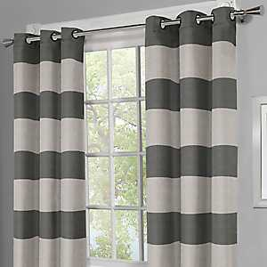 Surfside Black Pearl Curtain Panel Set, 108 in.