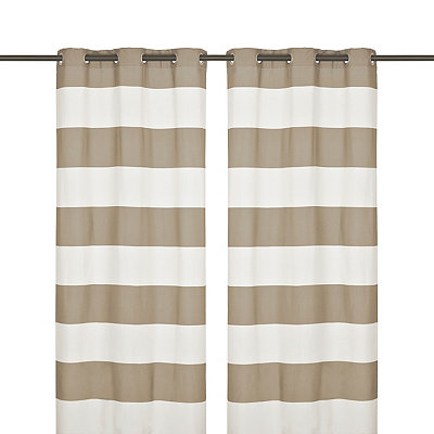 Surfside Taupe Curtain Panel Set, 96 in.