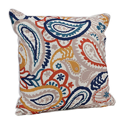 Navy Paisley Pillow