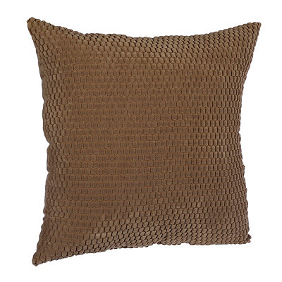 Tan Harris Suede Pillow