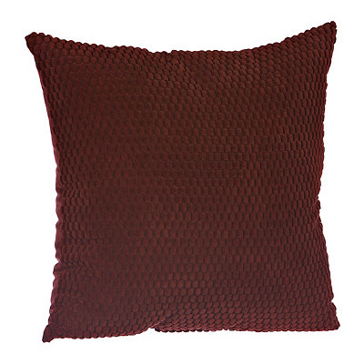 Red Harris Suede Pillow