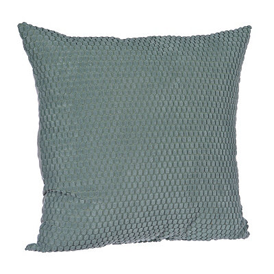 Aqua Harris Suede Pillow