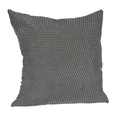 Gray Harris Suede Pillow