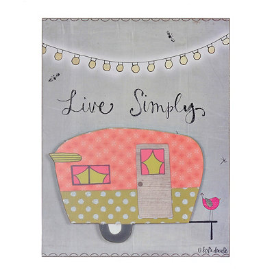 Live Simply Camper Wooden Plaque