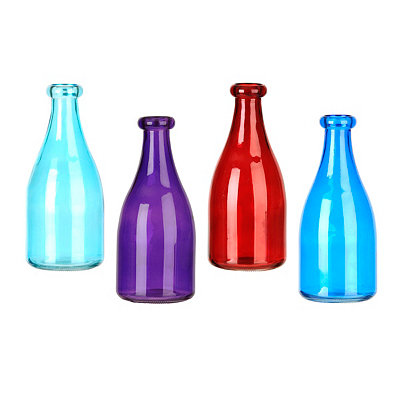 Colorful Tints Glass Milk Bottles