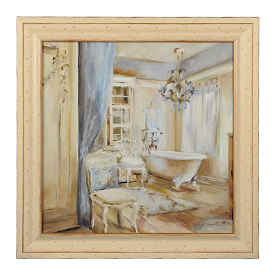 Boudoir Bath I Framed Art Print