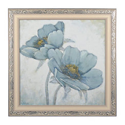 Soft Blue Poppies I Framed Art Print