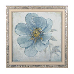 Soft Blue Poppies II Framed Art Print
