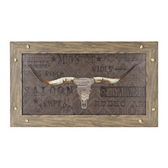 Gray Longhorn Framed Art Print